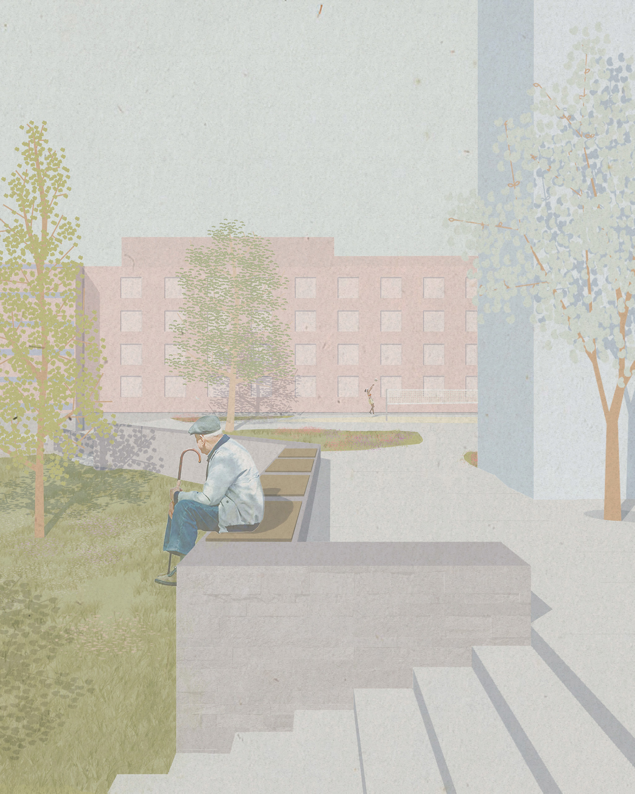 Illustration Promenaden Ntnu